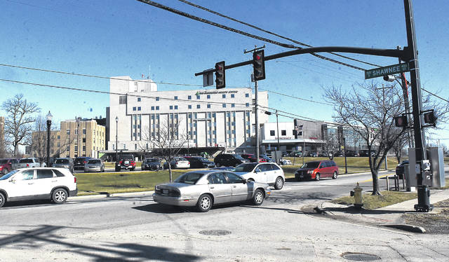 The intersection of Bellefontaine Avenue and Shawnee Street at Lima Memorial Health System includes turn lanes, an improvement the hospital pushed for to accommodate its expanded outpatient services.