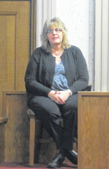 Cheryl Stauffer, Van Wert Counseling Center licensed social worker, testifies about the therapy she has provided since April 2019 to a minor who has reported being sexually abused.
