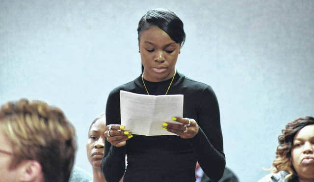 Dequaisha Wilson, who was held along with her young son at gunpoint during a robbery more than a year ago in Lima on Monday asked Allen County Common Pleas Court Judge Jeffrey Reed to impose the maximum possible sentence on one of her assailants, Kiarris Laws. The 28-year-old Laws was sentenced to more than 57 years in prison for his role in the robbery and kidnapping.
