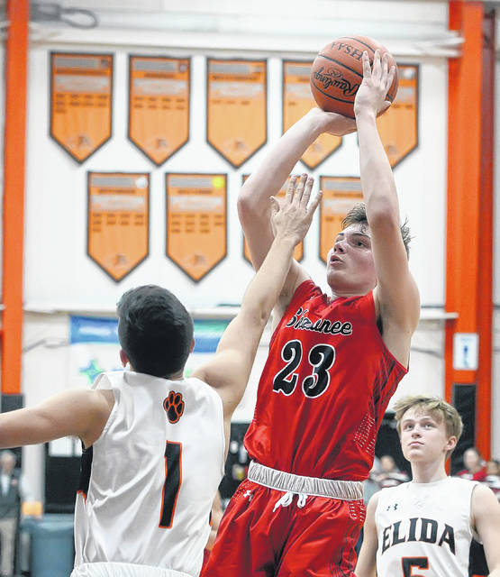 Shawnee's George Mangas was named the Western Buckeye League's Player of the Year. The Indian standout is averaging 30.4 points a game and 5.2 rebounds a contest.