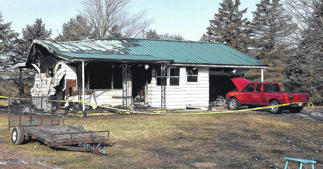 Fatal fire in 100 block of Franklin Street in Gilboa, Putnam County.  Craig J. Orosz | The Lima News