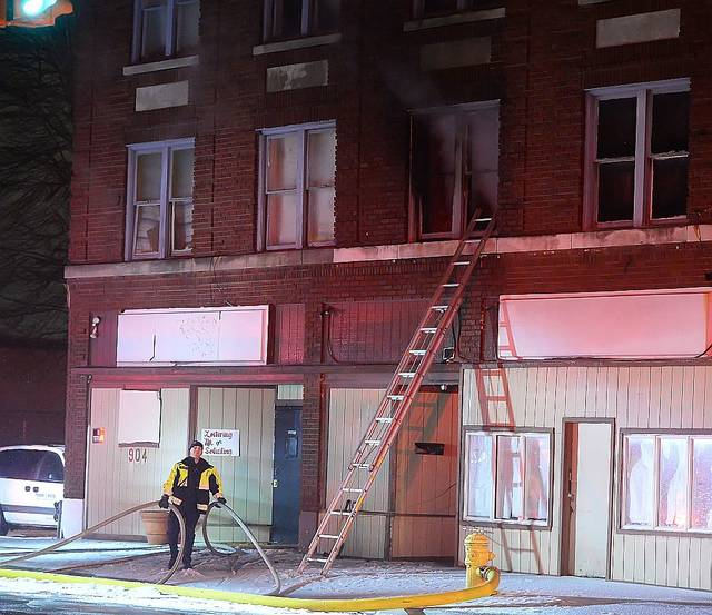 Lima firefighters responded to a fire at 902 S. Main St., Lima, at 2:46 a.m. Thursday. One man, 60-year-old Norise Cousey, died in the fire, and two other residents were injured in the blaze.