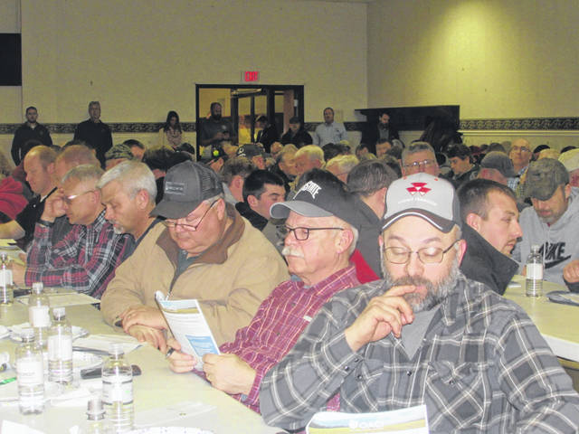 More than 300 farmers from Putnam and Henry counties attended a meeting Thursday at the Fogle Center in Leipsic to learn about an H2Ohio program.