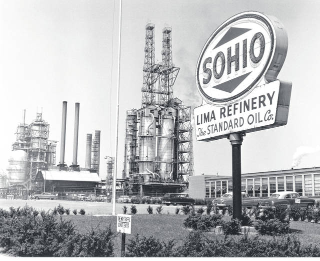The Lima refinery can be seen as it looked in the 1950s.