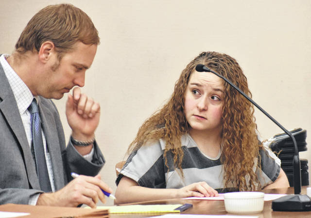 Jordyn Mitchell, 19, of Lima, will be sentenced April 3 after pleading guilty Friday to a reduced charge of robbery, a second-degree felony. Mitchell was one of four persons who police say conspired to commit an armed robbery outside a Brower Road apartment complex in September of last year.