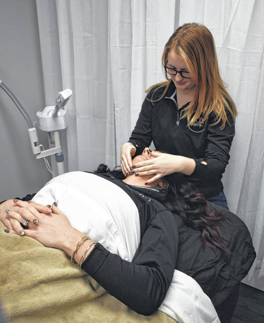 Facials with licensed esthetician Paige Peterson are one of the many services LOX Salon and Spa hosts in its expanded area, which opened in February 2020.