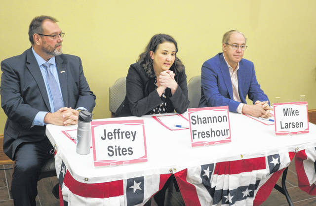 The three Democratic candidates running for the 4th Congressional District met in Bluffton Saturday night to debate the issues.