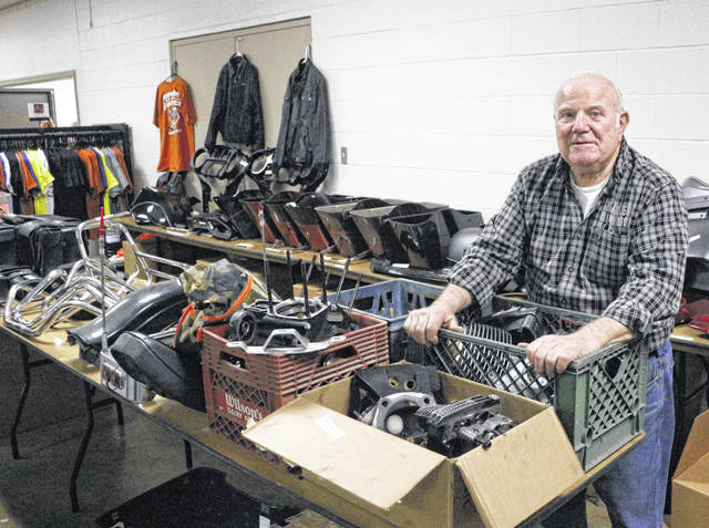 Jim Godwin and his wife, Mary, have hosted the J & M Collectibles Motorcycle Swap Meet for more than 30 years.