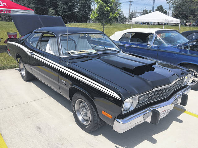 Jay Clutter, of Wapakoneta, has held onto this 1974 Plymouth Duster since he bought it in August 1974. He refurbished it a few years ago.