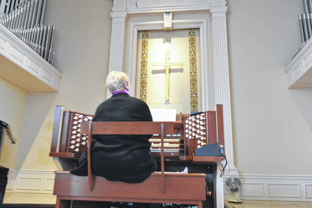 Sandy Miller was one of the featured organists at a recital Sunday at Market Street Presbyterian Church in Lima.