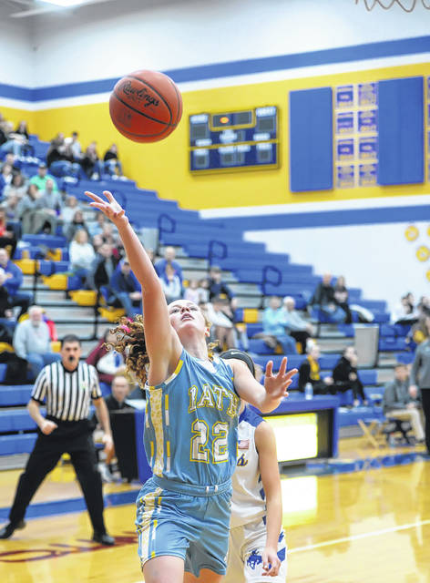 Bath's Chandler Clark puts up a shot during Thursday night's game at St. Marys.