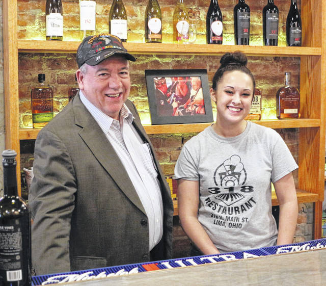 Ray Magnus, owner of 318 Restaurant & Bar, and Tina Rolsten, the restaurant's manager, are excited to help grow Lima's downtown.
