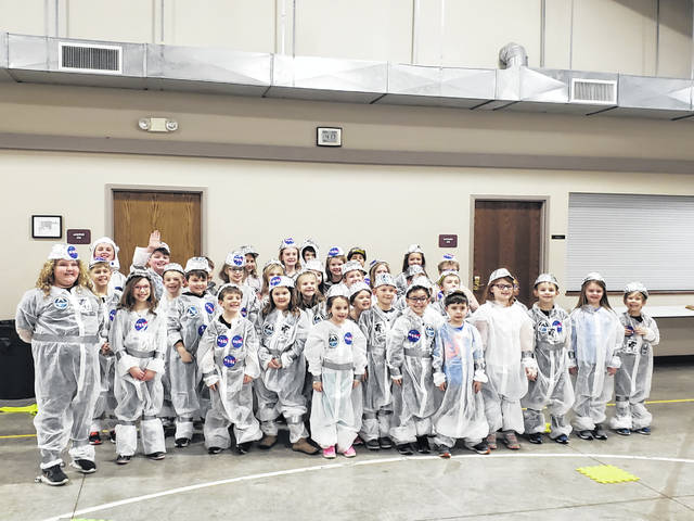 The Wapakoneta YMCA hosted a group of about 50 kids to make their costumes for One Giant Leap Day.