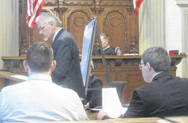 E. Charles Bates, attorney, provided closing arguments in a trial Friday in Putnam County.