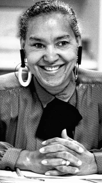 Edie Woodard, photographed in 1987, met the man who would become her husband in Virginia when he was at seminary.
