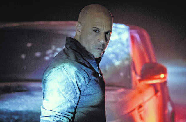 "This image released by Columbia Pictures shows Vin Diesel in a scene from ""Bloodshot."""