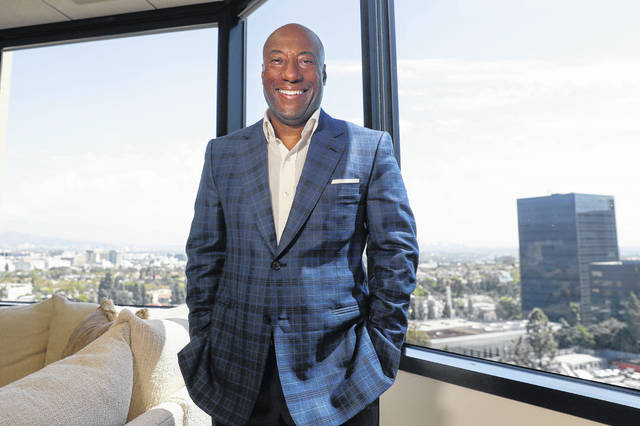 FILE - In this Sept. 5, 2019 file photo, comedian and media mogul Byron Allen poses for a picture Thursday, Sept. 5, 2019, in Los Angeles. The Supreme Court has thrown out a lower court ruling in favor of a black media mogul and comedian who's suing cable giant Comcast for racial discrimination. The justices agreed unanimously Monday that an appeals court applied the wrong legal standard in allowing business owner Byron Allen's $20 billion lawsuit against Comcast to go forward.