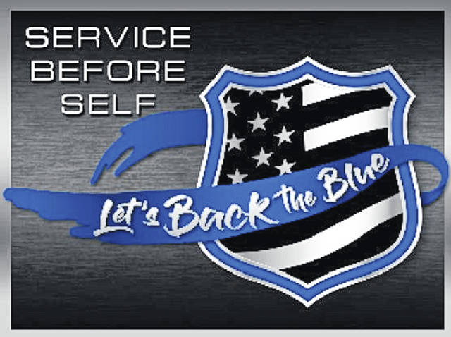 Flags and bracelets supporting law enforcement are being offered for sale at http://letsbacktheblue.org.