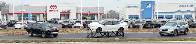 The Allan Nott Honda Toyota dealership at 3500 Elida Road, Lima, has changed hands. It's now known as White's Honda Toyota of Lima.