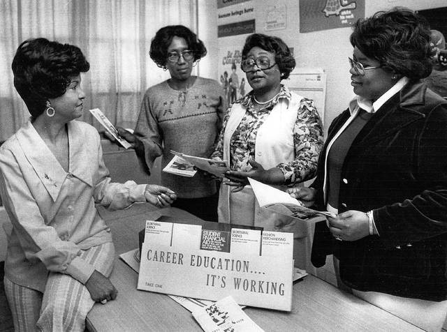 Joyce Garrett, from left, Annie Mae Banks, Nathzollo Gurley and Lessie Cochran plan a Hy Ho Club event in this undated photo.