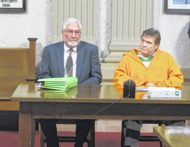 Greg Myers, Public Defender's Office attorney, left, appears with his client Kenneth Richey in Putnam County Common Pleas Court Friday.