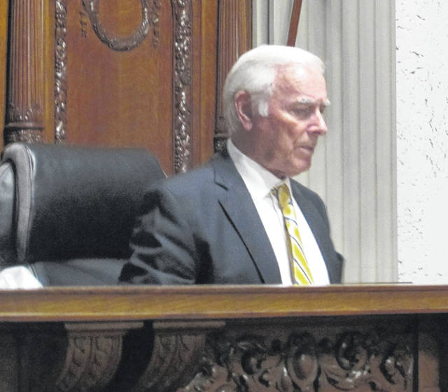 Dale Crawford, Franklin County visiting judge, presided in court Friday in Putnam County.