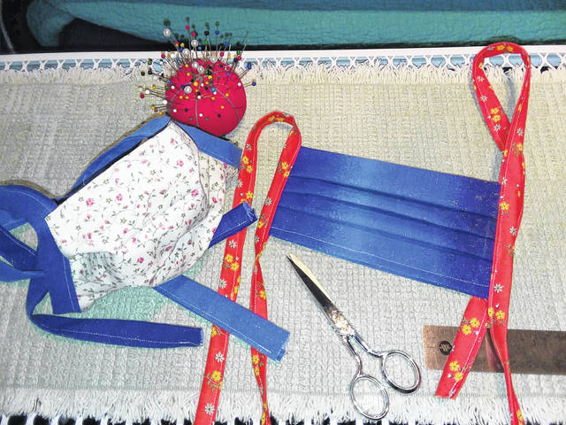 Toni Wisher, of Middle Point, shared her ideas on how to sew these masks quickly.