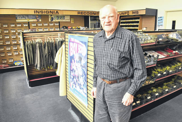 Jefferson Award winner Melvin Parsons Jr. of rural Spencerville has volunteered with the Boy Scouts of America for the past 50 years and also donates his time in various ways to American Legion and V.F.W. posts in Spencerville.