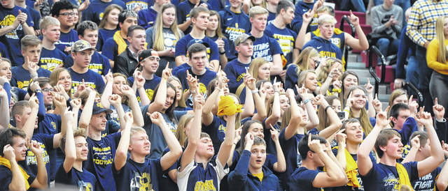 Ottawa-Glandorf students cheer on the Titans during Saturday's Division III district final at Lima Senior.