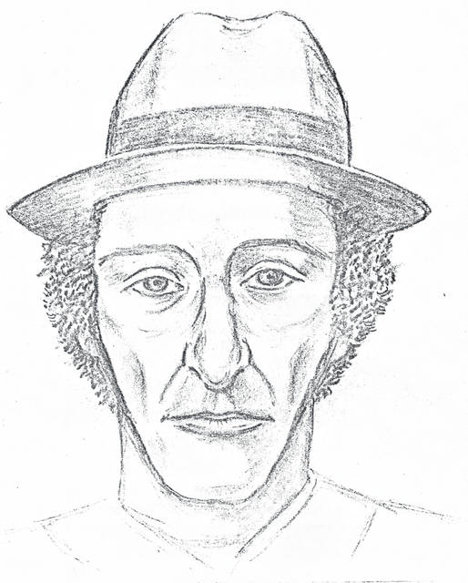 Shown is an artist's sketch of a person who was seen in the vicinity of the P&S Carry Out near St. Marys in December of 1978 in the days leading up to the murder of Roger Parent.
