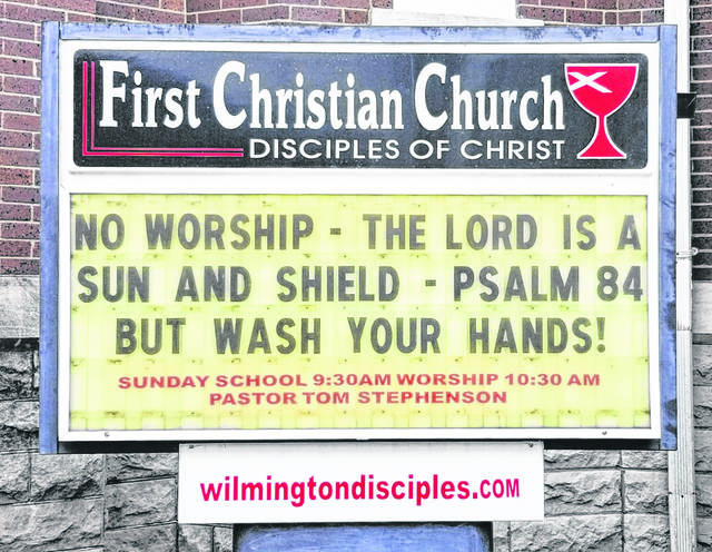 A church sign in Wilmington models sensible advice and humor.
