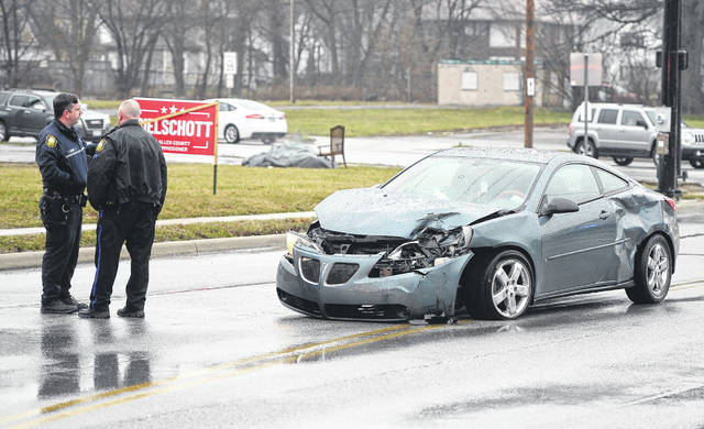 Lima Fire and Police Department were on the scene of a two-vehicle crash at the intersection of North Jameson Avenue and West North Street Wednesday afternoon. Minor injuries were reported.