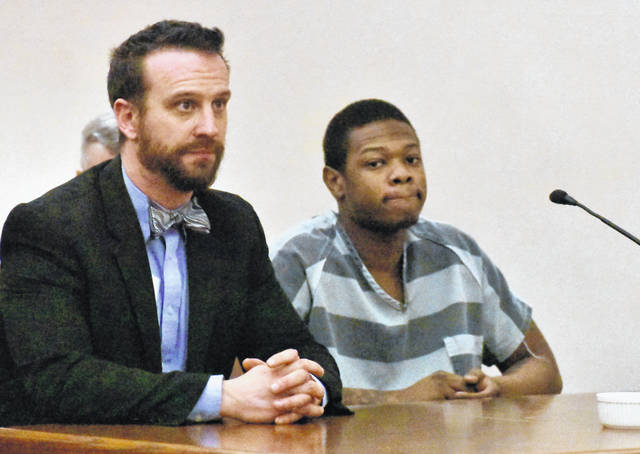 Isahia Dyous, 2o, of Lima, came to court Monday with the intent of having a new lawyer appointed to represent him. Instead, he will stand trial beginning March 16 with Defense Attorney Carroll Creighton, shown at left, as his court-appointed counsel.