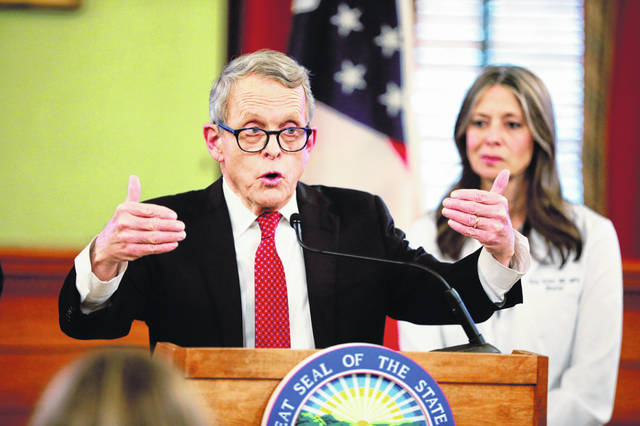 Ohio Gov. Mike DeWine has sought out top experts in the medical and epidemiological fields, listened to what they said on twice-daily conference calls and, most crucially, actually implemented their recommendations. (Doral Chenoweth/The Columbus Dispatch via AP)