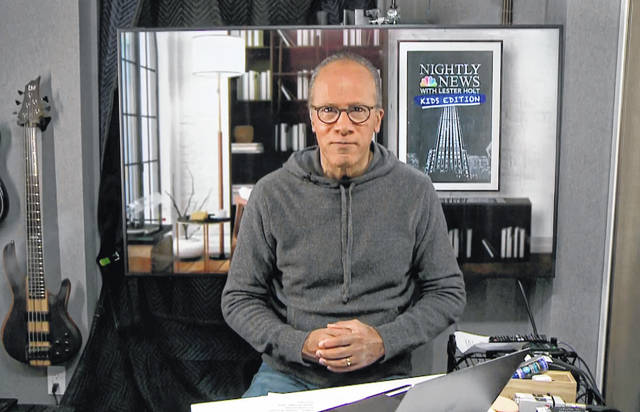 "This image released by NBC shows Lester Holt, host of NBC's ""Nightly News with Lester Holt."" Holt is launching a twice-weekly digital newscast for children aimed at calming fears and answering questions about the coronavirus."