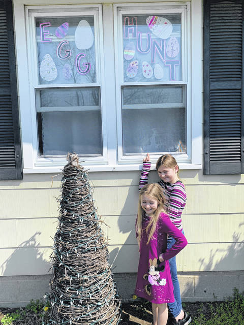 Raegan and Reese Roberts plan to go on the Lima egg hunt with their family this weekend.