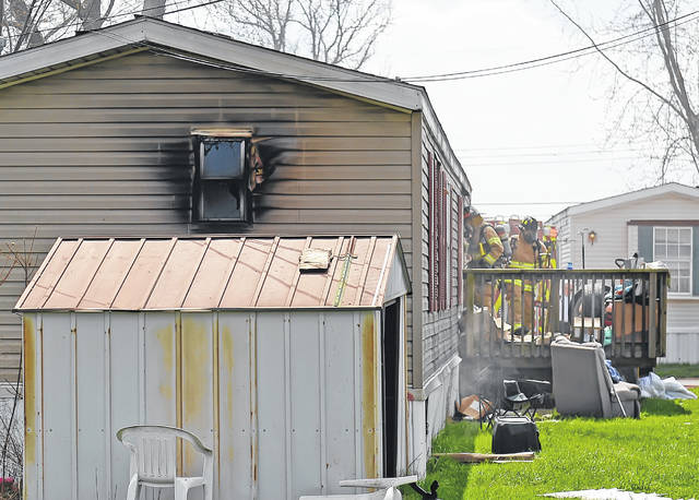The Bath Township Fire Department responded to a fire in a mobile home at 2145 N. Dixie Highway, Lot 62, on Wednesday.