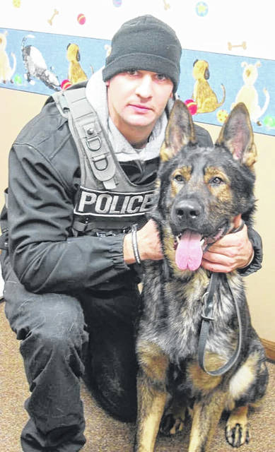 K9 Grizz, with the Lima Police Department, died over the weekend.