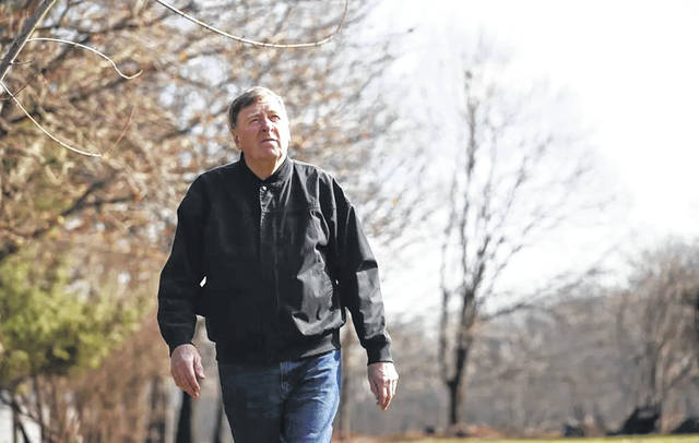 """William """"Bill"""" McVeigh, father of Timothy McVeigh, walks near his home in Pendleton, N.Y., 25 years after his son bombed the Alfred P. Murrah Federal Building in Oklahoma City. Timothy McVeigh, who killed 168 people, was executed for his crimes in 2001."""