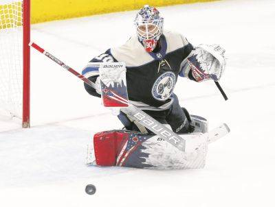 Goalie Elvis Merzlikins and the Columbus Blue Jackets may return to their home rink as early as May 15, followed by a training camp and possible exhibition games in June.