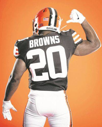 The Cleveland Browns unveiled new uniforms Wednesday to replace old ones that had grown stale and become symbolic with losing.