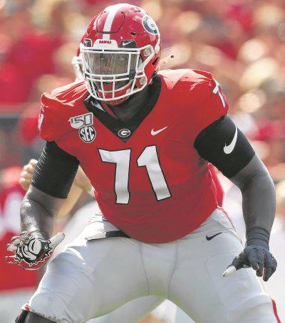 Georgia's Andrew Thomas is a projected top 15 pick in this year's NFL draft.