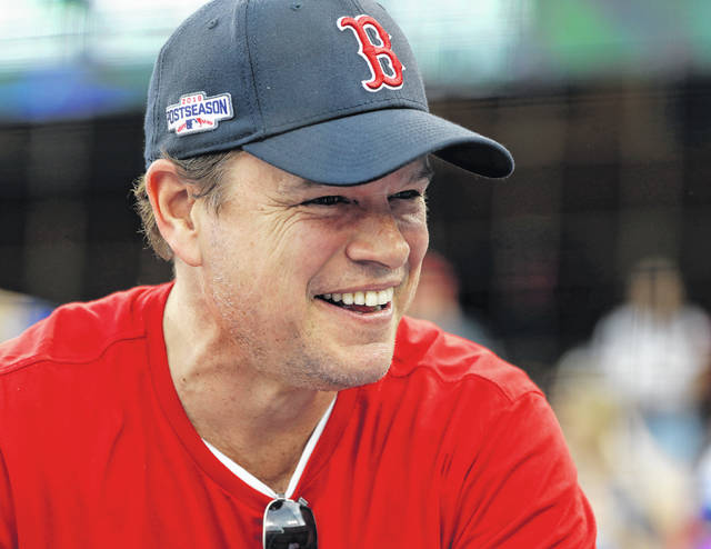 "Actor Matt Damon waits for Game 5 of the World Series baseball game in Los Angeles in 2018. Damon said Wednesday described living in Ireland during the country's coronavirus lockdown as like being in a ""fairy tale"" during a surprise radio interview. The Hollywood star and his family were in Dublin, where he had been filming Ridley Scott's ""The Last Duel,"" before travel restrictions were imposed worldwide."