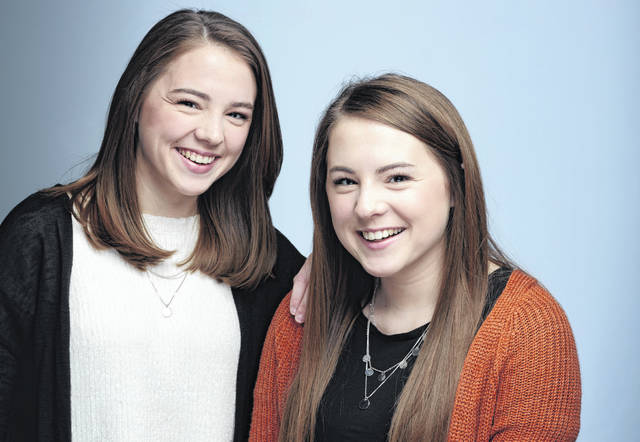 Twin sisters and Ohio Northern University sophomores, Alyson Hoffman (left) and Andrea Hoffman, live with cystic fibrosis.