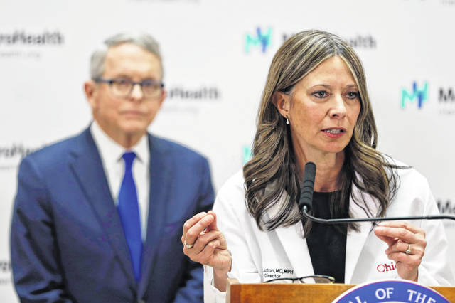 A proposed bill would curb the power of Ohio Health Director Amy Acton.