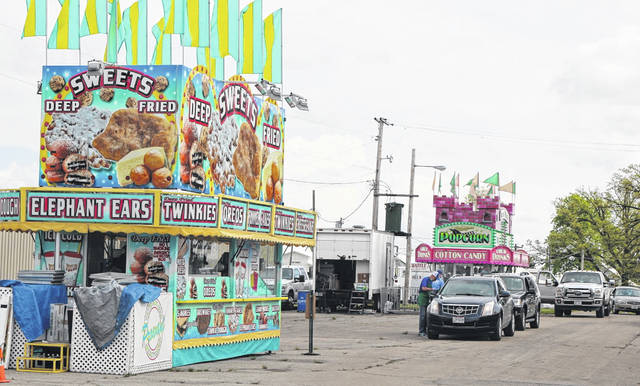 Cars were lined up this weekend for the Van Wert County Fair's Fair Food Drive-Thru. Officials are hoping to do this every weekend through the July 4 holiday.