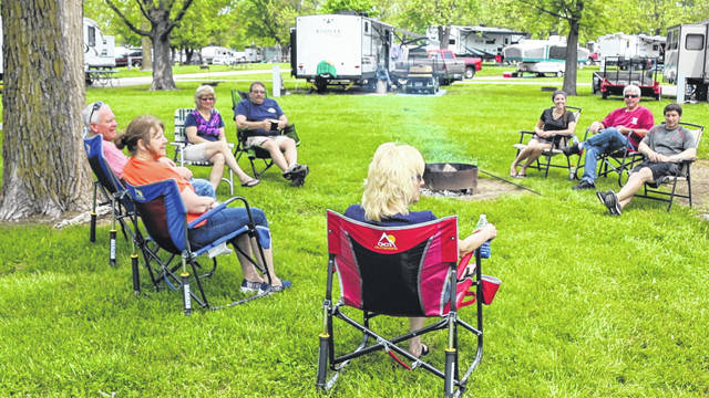 These campers from the Delphos area are enjoying the Memorial Day weekend roughing it at the Grand Lake St. Marys Campground.