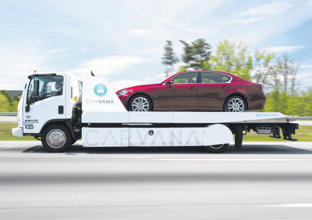 """Lima was included in a list of 100 U.S. cities in which Carvana is now offering """"as-soon-as-next-day delivery"""" of used cars and trucks purchased online from its website."""