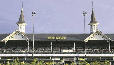 Churchill Downs in Louisville, Ky., is scheduled to resume racing without fans today.