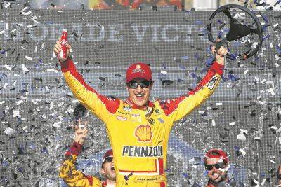 Joey Logano celebrates after winning the last NASCAR Cup Series race March 8 at Phoenix Raceway. The Cup Series resumes today after being suspended by the coronavirus pandemic.